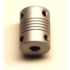 "Coupling, Flexible Helical Cut, 6mm to 6.35mm (1/4"")"