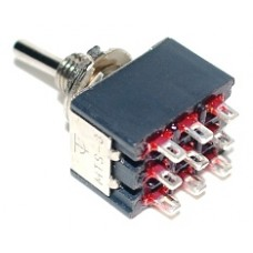 3PDT On-None-On Toggle Switch W-36
