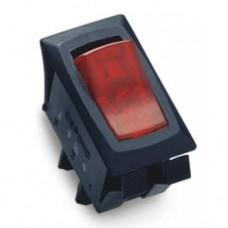 SPST ON-OFF Red Illuminated Appliance Rocker